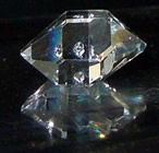 Herkimer Diamond crystal gemstone with excellent clarity.