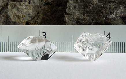 Image of clear Herkimer crystals.