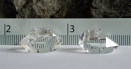 Two of 4 Herkimer Diamonds for sale.