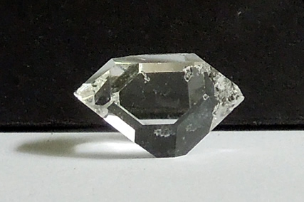A complete double terminated Herkimer crystal.