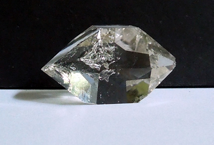 A double terminated quartz crystal.