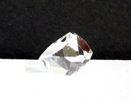 Herkimer crystal with a round gumball shape.