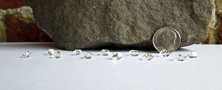 Water clear Herkimer Diamonds