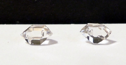 Set of two quality raw crystals.