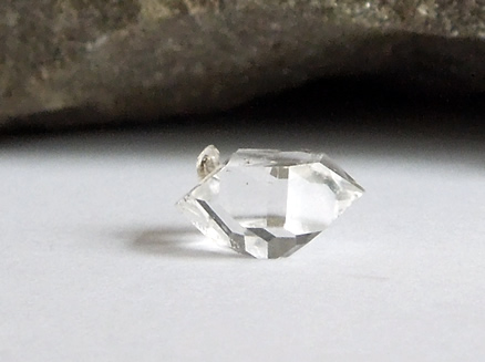Herkimer Diamond with bridge crystal.