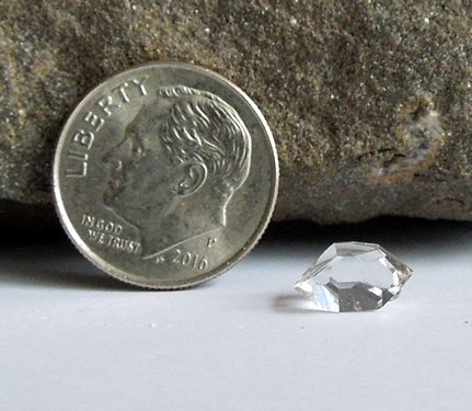 A 9x7.5 mm AA grade Herkimer Diamond
