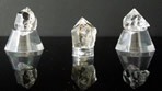 Water clear, metaphysical quartz crystal points.