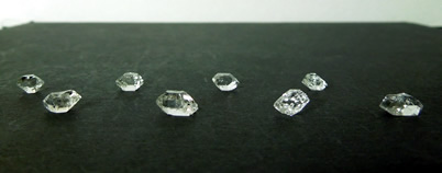 Herkimers range from 5.5-8.5 mm, total 1 g