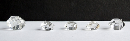 An assortment of C grade Herkimer Diamonds