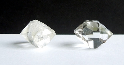 Two Herkimer Diamond crystals for sale.