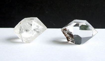 Clear and cloudy Herkimer Diamonds.
