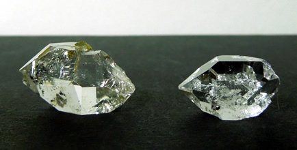 Clear Herkimer Diamond crystals