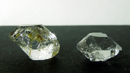 Two C grade Herkimer Diamonds