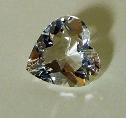 Top view of gemstone.