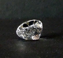 Back view of oval cut Herkimer.