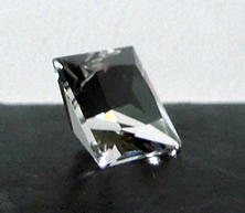 Clear 2.5 ct. Herkimer faceted gemstone.