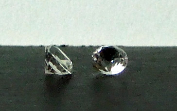 Tiny 3 mm round cut Herkimers