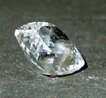 Square cushion cut Herkimer crystal