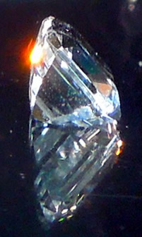 8x6 mm faceted crystal.