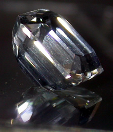 Side view of clear crystal.