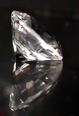 Side view of machine cut crystal.
