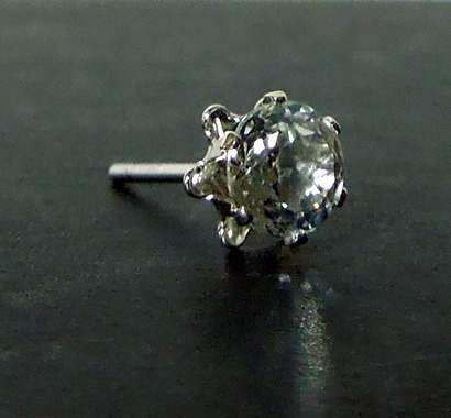 Herkimer crystal ear stud