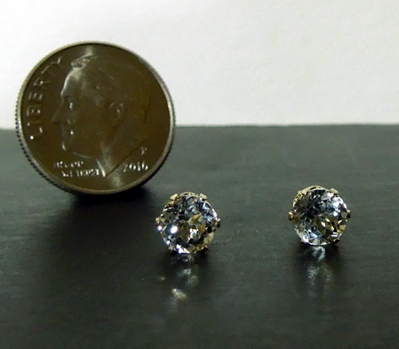 Sparkly Herkimer Diamond Ear Studs