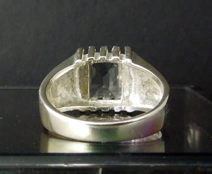 Back view of Sterling silver mans ring.