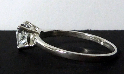 1 ct. heart shaped diamond ring.