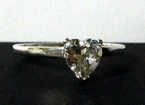 Heart Cut Herkimer Diamond Ring