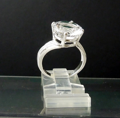 Large 5.75 ct. diamond statement ring.