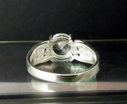 Back view of this unique engagement ring.