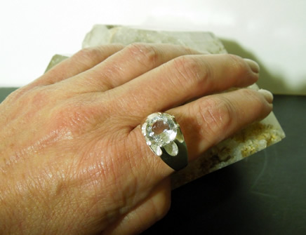 Modeling crystal ring.