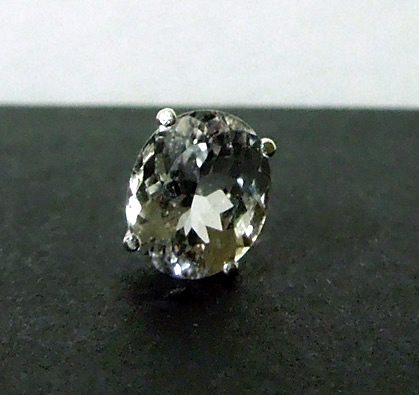 Close up image of oval cut diamond.