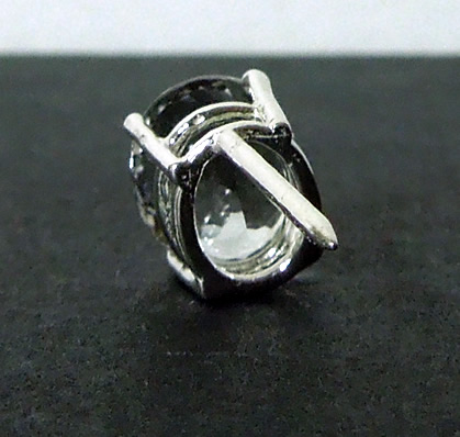 Back view of Herkimer Diamond Tie Tack