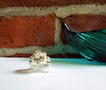 Herkimer Diamond Oval Cut Cocktail Statement Ring