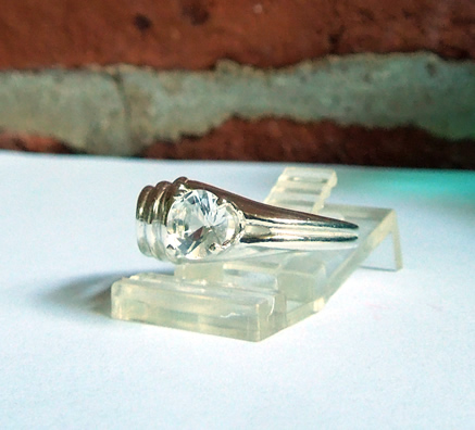A 1 ct. Herkimer Diamond Ring, size 7