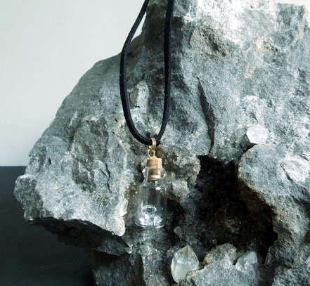 Pendant shown with Herkimer matrix rock.