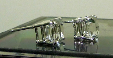 Beautiful asscher cut Herkimer Diamonds.