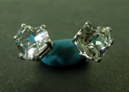 Herkimer Heart Cut Crystal Post Earrings