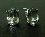 Oval Cut Herkimer Post Earring Images