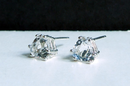 Clear Cut Crystal Earrings.