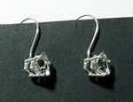Trilliant cut crystal dangle earrings.