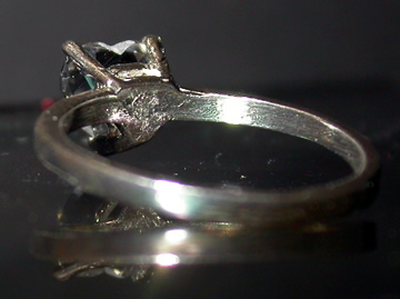 1 ct. heart shaped engagement ring.