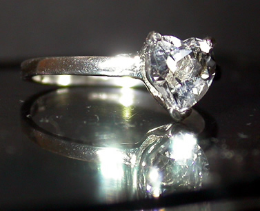 Beautiful Herkimer cut crystal ring.