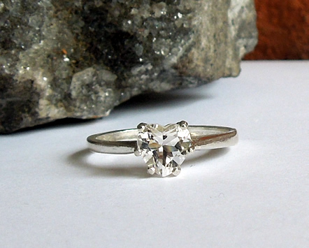 Heart cut diamond ring.