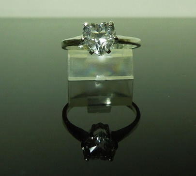 Front view of this Herkimer diamond ring.