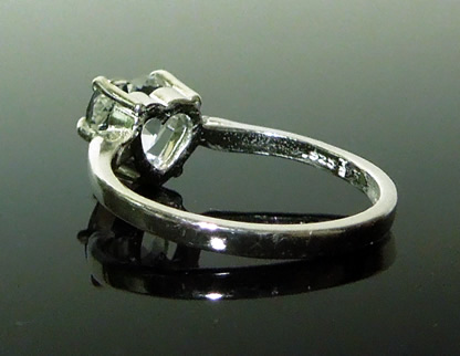 Back view of sterling silver ring setting.