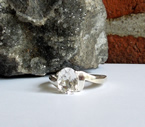 Sparkly Herkimer Crystal Art Deco Ring