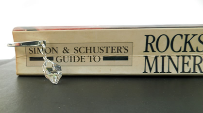 Herkimer Diamond crystal bookmark shown.
